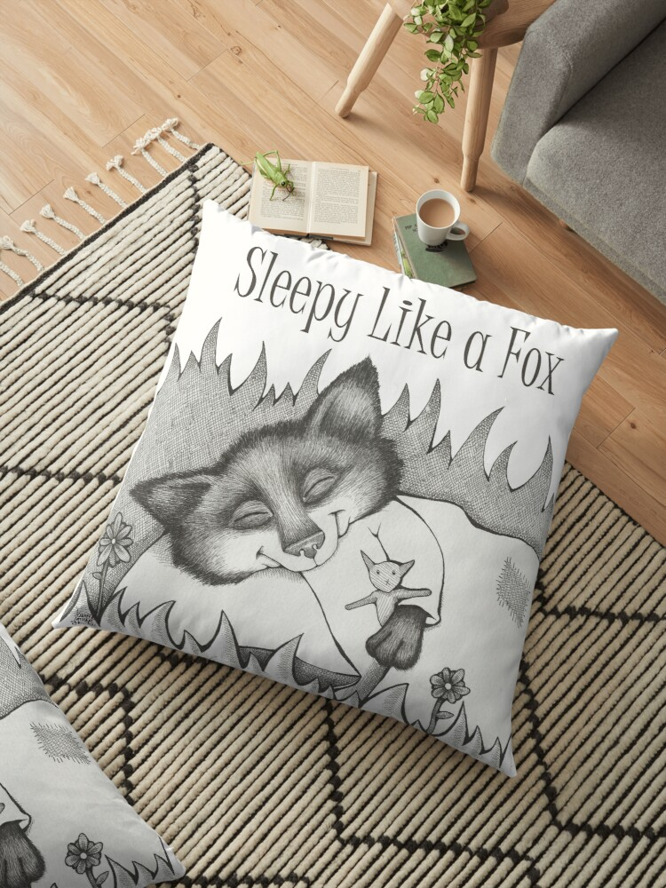 Sleepy Like a Fox Sleepover Tote Bag Illustration by Jennifer Latham Robinson  by DitchFrame