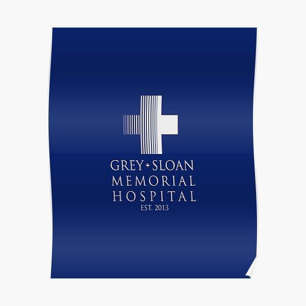 Grey Sloan Memorial Hospital Plaque Poster
