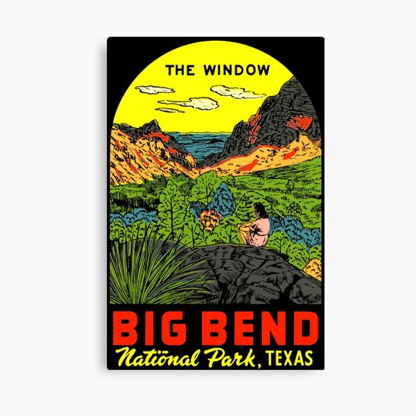The Window BIG BEND National Park Vintage Travel Decal Canvas Print