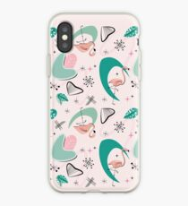 Atomic 50er Jahre Flamingo iPhone-Hülle & Cover