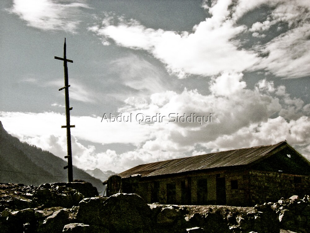 Sky and Hut by Abdul Qadir Siddiqui