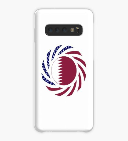 Qatari American Multinational Patriot Flag Series Case/Skin for Samsung Galaxy