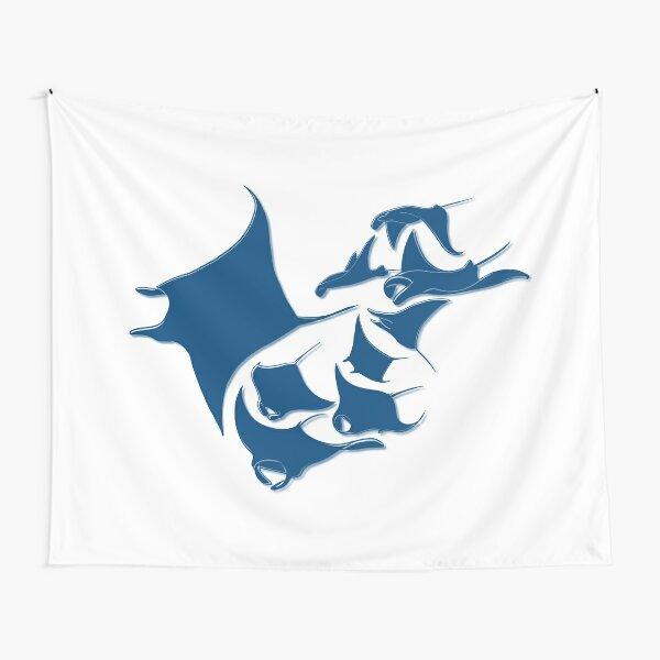 Blue Manta Rays Tapestry