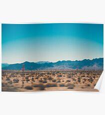 Desert Aqua Poster