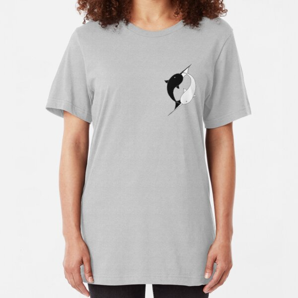 Narwhal YinYang  - Pocket Sized Slim Fit T-Shirt