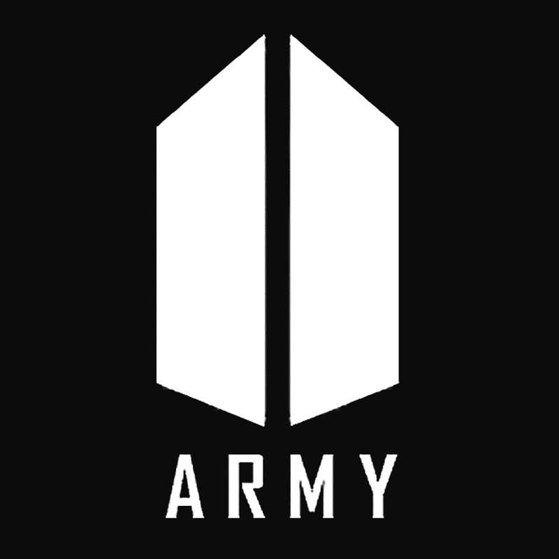 quotbts army white logoquot posters by kissaaura redbubble