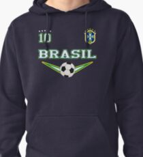 Brasil Brazil Soccer Design with number 10 - Original Sports Apparel Pullover Hoodie