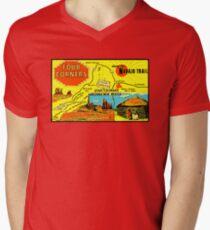 Four Corners Monument Vintage Travel Decal Men's V-Neck T-Shirt