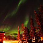 Green Aurora Borealis by zumi