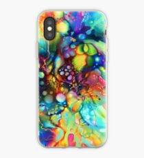 Post Mental Stains - Digital Painting iPhone Case