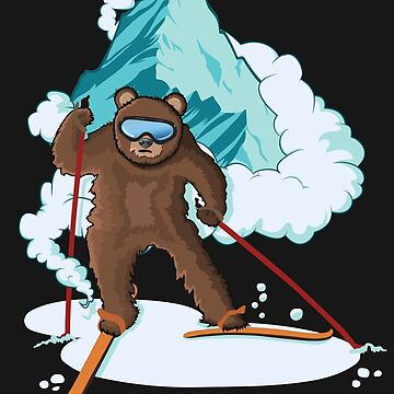 Skiing Bear  by AlyMerchandise