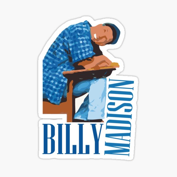 Billy Madison - Classic Film Fan Sticker