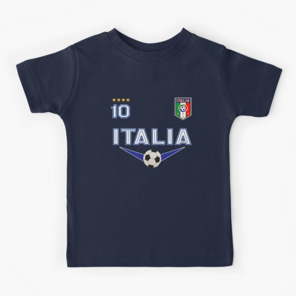 Italy Italia Soccer Design with number 10 - Original Sports Apparel Kids T-Shirt