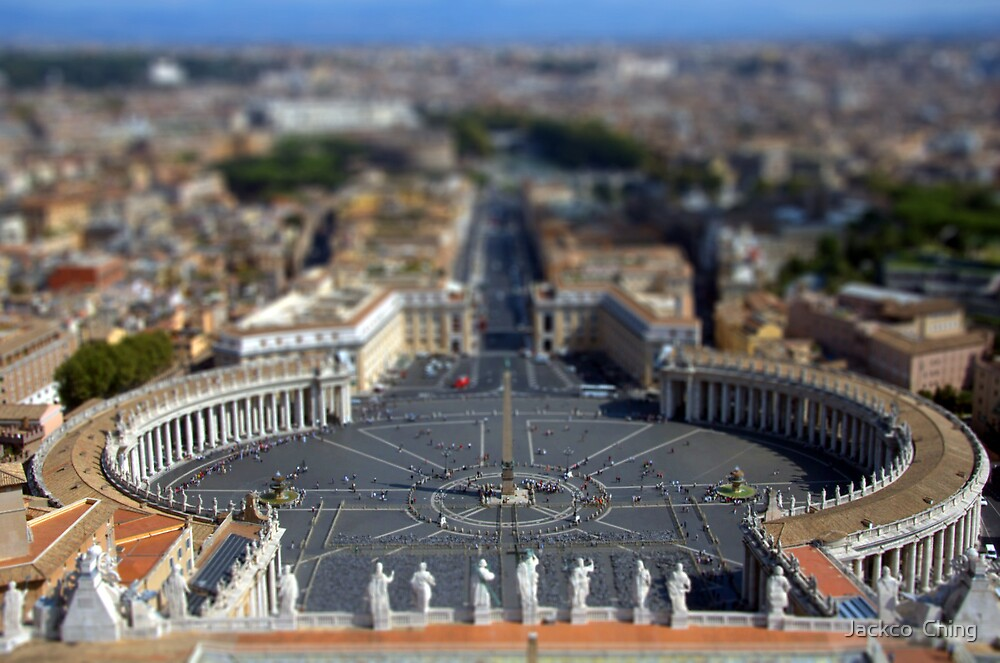 Saint Peter's Square Miniature by jackco ching