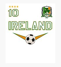 Ireland Soccer Design with number 10 - Original Sports Apparel Photographic Print