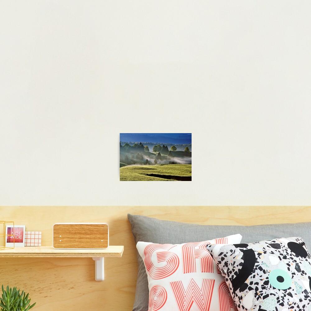 Mist and sun on Jura landscape Photographic Print