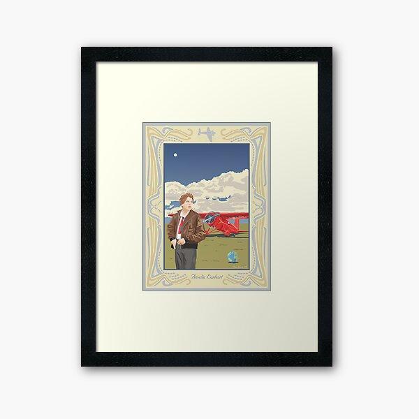 Amelia Earhart - Pioneer Aviator Framed Art Print