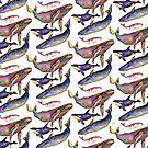 «Cuarteto de ballenas» de dotsofpaint