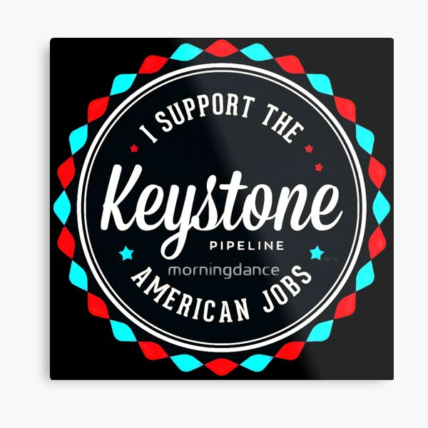 Keystone Pipeline Metal Print