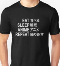 Eat Sleep Anime Repeat Funny Anime Binge T-Shirt Unisex T-Shirt