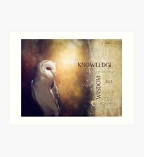 Knowledge and Wisdom Art Print