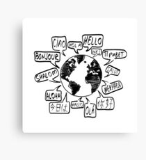 Hello in many languages Canvas Print