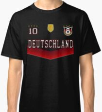 Germany Deutschland Soccer Design with number 10 Classic T-Shirt