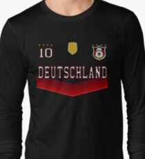 Germany Deutschland Soccer Design with number 10 Long Sleeve T-Shirt