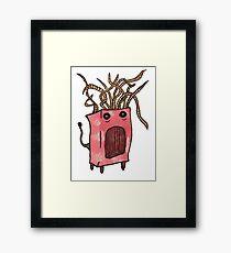 Red Monster Framed Print
