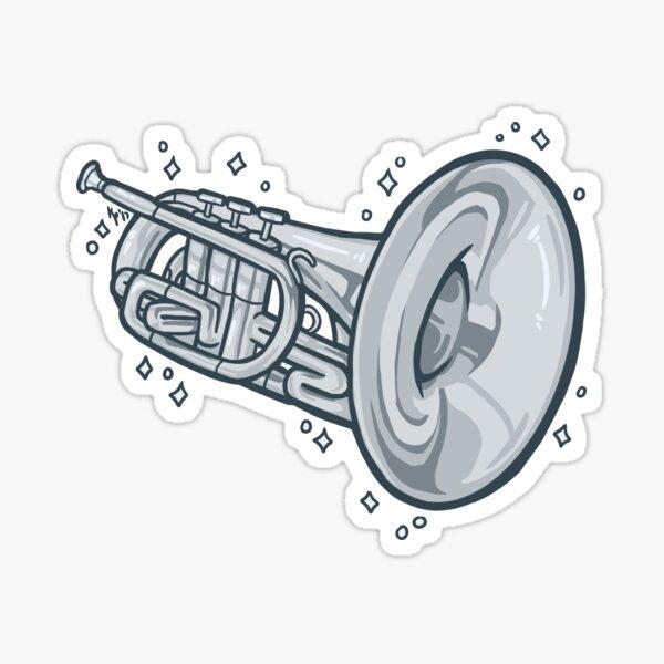 Mellophone!! (Silver) Sticker
