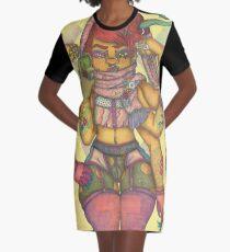 Plus Size Vixen: No Judge, No Jury Graphic T-Shirt Dress