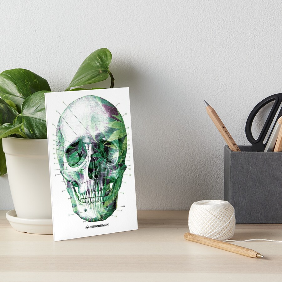 Pot Head Art Board Print