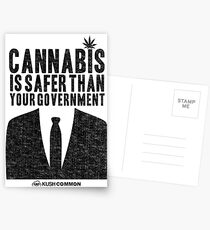 Cannabis is Safer Than Your Government Postcards