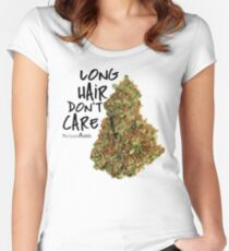 Long Hair Don't Care Women's Fitted Scoop T-Shirt