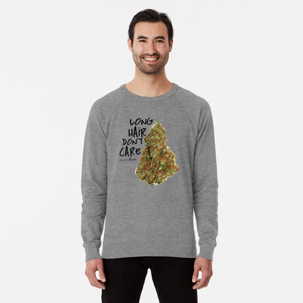 Long Hair Don't Care Lightweight Sweatshirt