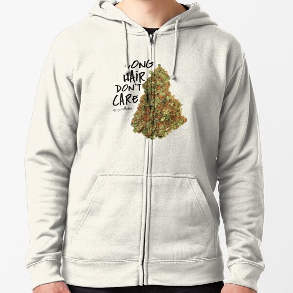 Long Hair Don't Care Zipped Hoodie