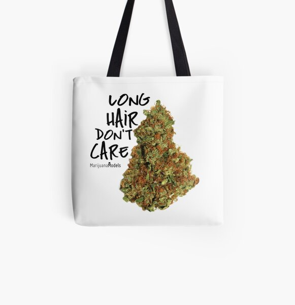 Long Hair Don't Care All Over Print Tote Bag