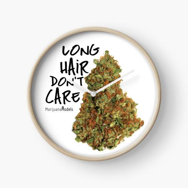 Long Hair Don't Care Clock