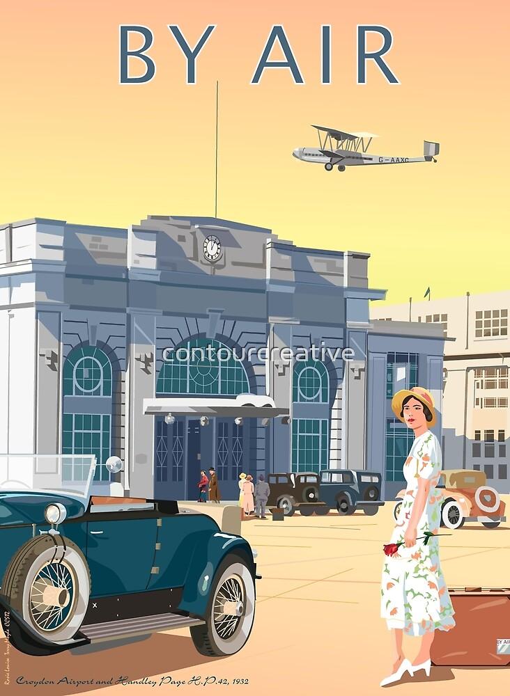 Art Deco Croydon Airport by contourcreative