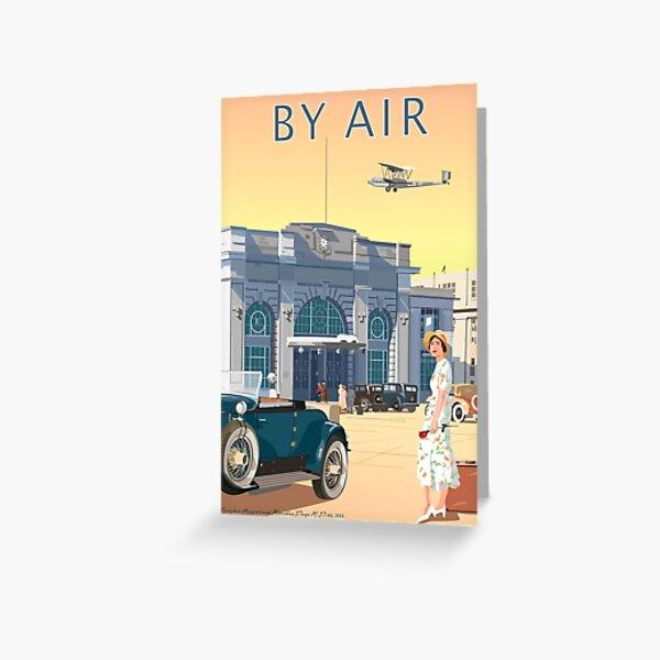 Art Deco Croydon Airport Greeting Card
