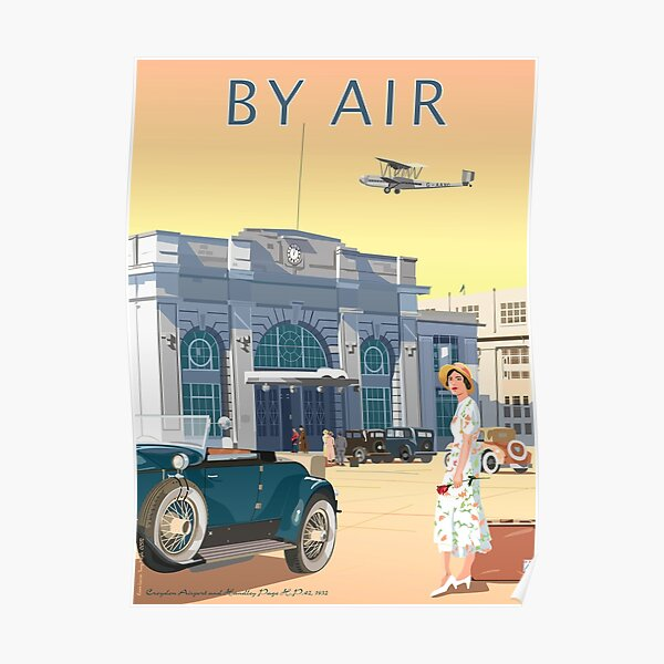 Art Deco Croydon Airport Poster