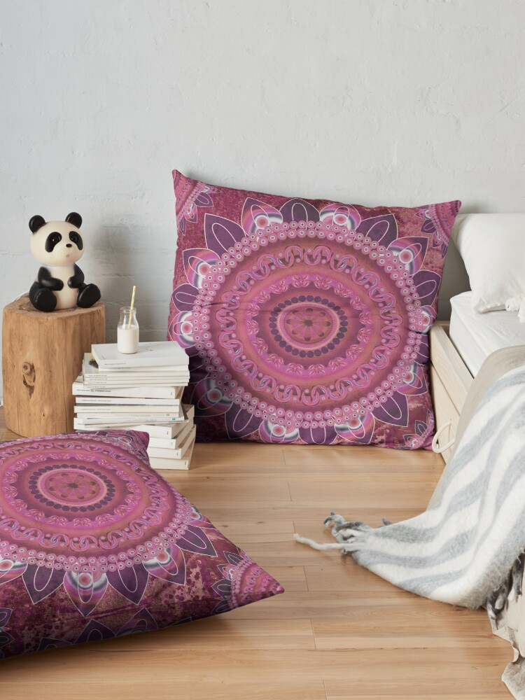 Alternate view of Rose Sea Mandala Floor Pillow