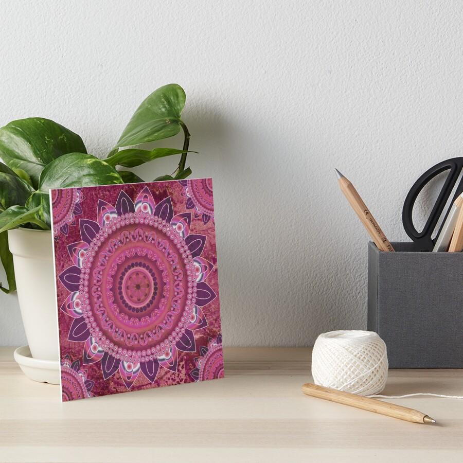 Rose Sea Mandala Art Board Print