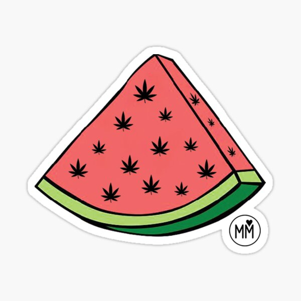 Weedmelon Glossy Sticker