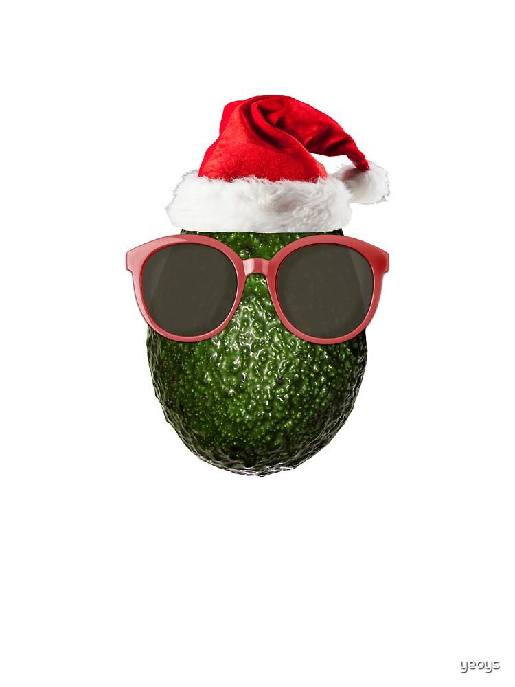 Funny Vegan Christmas Avocado Santa Hat Gift Ideas Baby One Pieces
