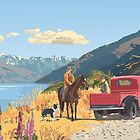 Lake Wanaka droving, New Zealand by contourcreative