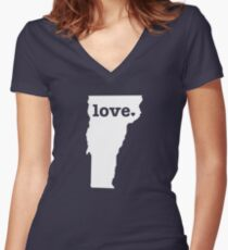 Vermont Love Women's Fitted V-Neck T-Shirt