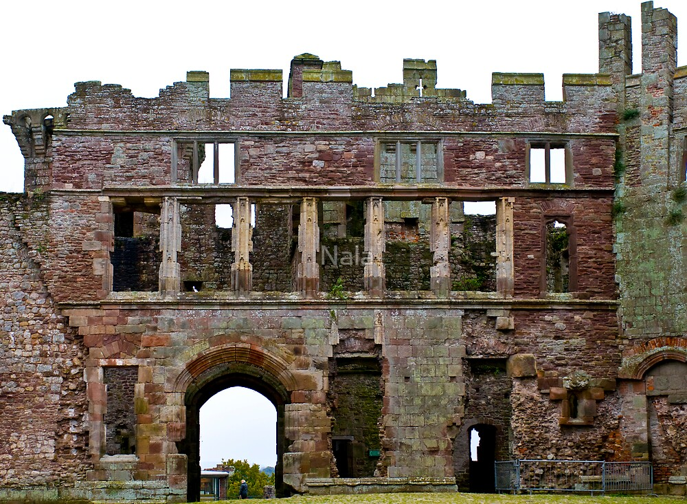 Raglan Castle - The Rear Gatehouse  by Nala