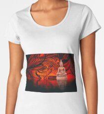 Buddha on a Lake Women's Premium T-Shirt