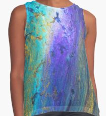 peacock coloured flow abstract Contrast Tank